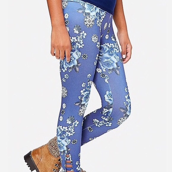 Justice Other - Justice blue floral leggings